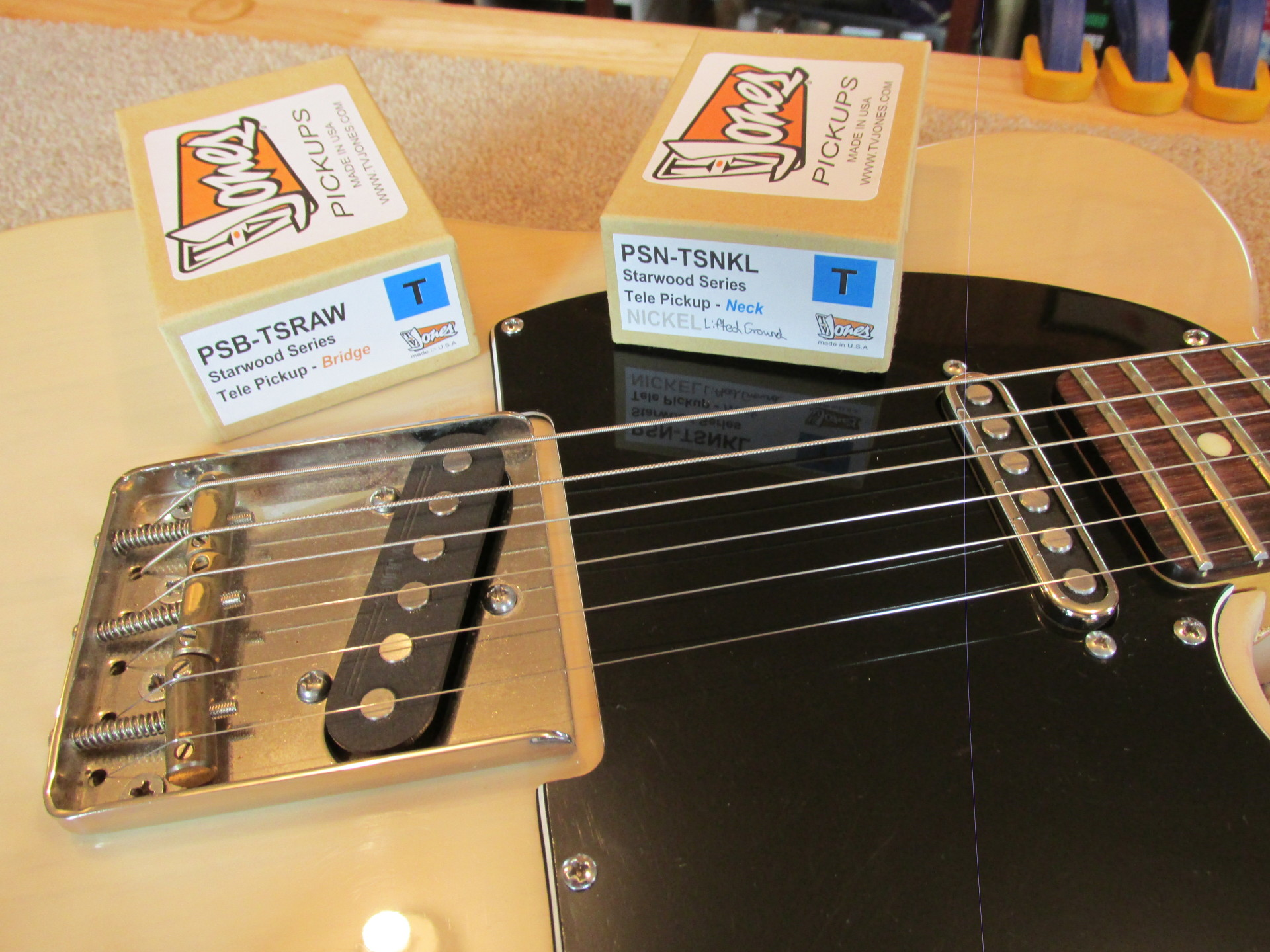 TV Jones pickups at The Fret Shack